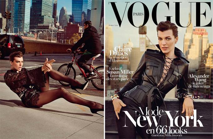 Милла Йовович на обложке Vogue Paris