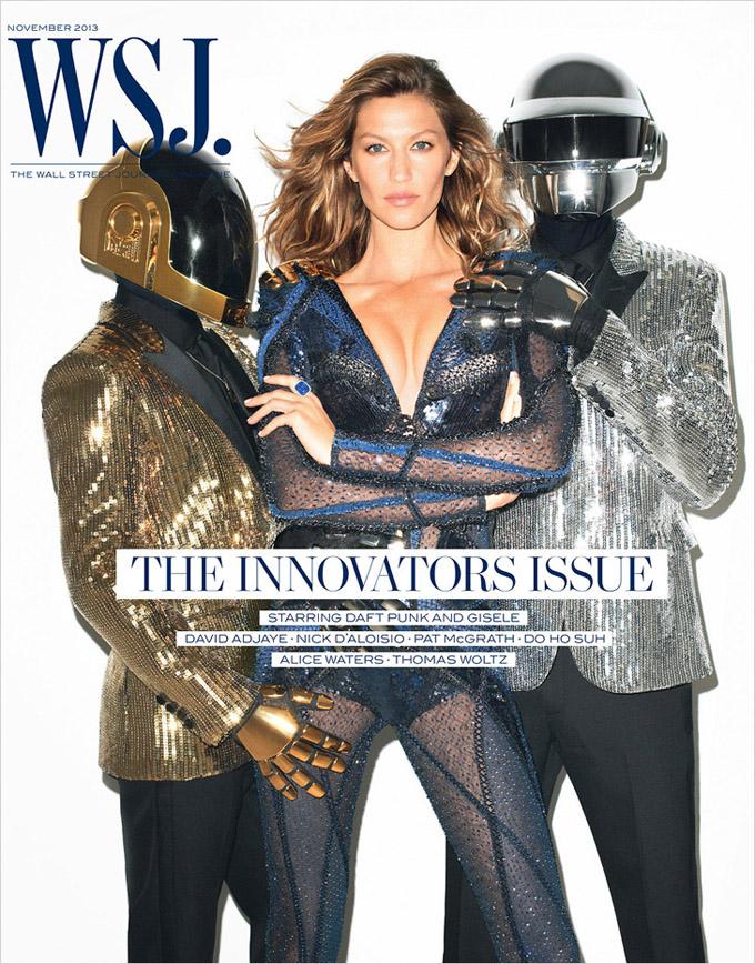 Жизель Бундхен и Daft Punk в WSJ Magazine