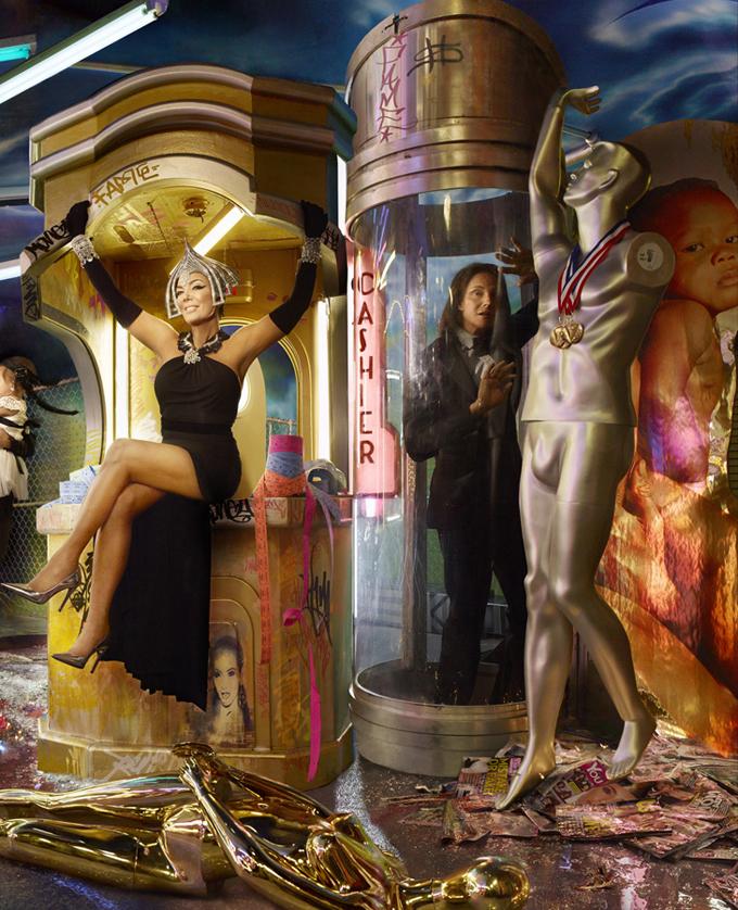Дэвид ЛаШапелль сделал портрет семьи Кардашьян