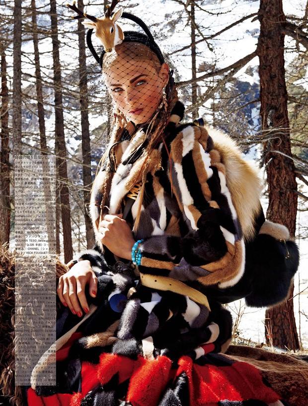 Анна Селезнева в Vogue Japan