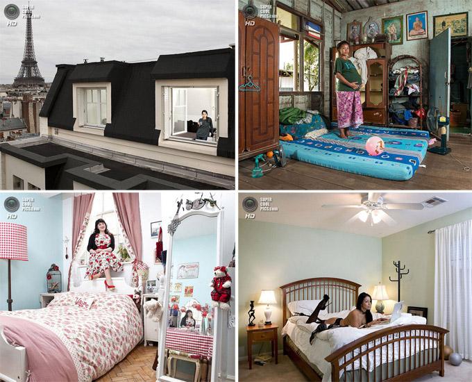 Зеркала и окна: спальни женщин  всего мира